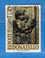 Italia °- 1966 - DONATELLO.  Unif. 1028.  Vedi Descrizione. - 6. 1946-.. Repubblica