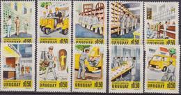Uruguay - Correo Posta Post Office Postman 1977 Yvert 983/92 ** Mnh - Posta