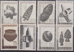 Uruguay 1967 Preistorico Manufatti Prehistoric Artifacts Set MNH - Archeologia