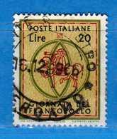 Italia °- 1966 - GIORNATA Del FRANCOBOLLO.  Unif. 1033.  Vedi Descrizione. - 6. 1946-.. Repubblica