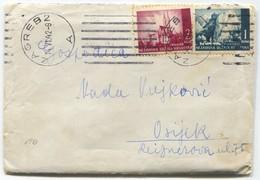 Croatia NDH - Cover, Seal Zagreb 1942. - Croatia
