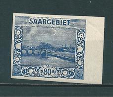 Saar MiNr. 62 U Geprüft Ney BPP (sab40) - 1920-35 Saargebiet – Abstimmungsgebiet