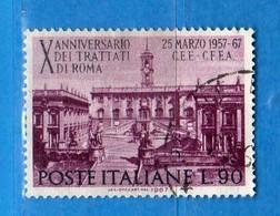 Italia °- 1967 - TRATTATI Di ROMA.  Unif. 1037.  Vedi Descrizione. - 6. 1946-.. Repubblica