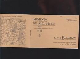 Automobile - Bloxham - Memento Mécanicien Avec Calendrier 1907 - Offert Au 9è Salon De L'automobile - Publicités