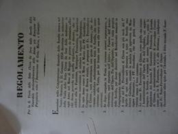 """Documento """"REGOLAMENTO PER LA VISITA DELLE SETTE CHIESE Sorelle Ven. Arciconfraternita Delle Anime Del Purgatorio""""  1858 - Documents Historiques"""