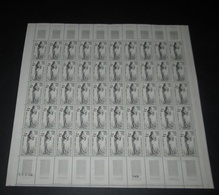 France 1963 Neuf** N° 1400 Croix-Rouge David D'Angers  Feuille Complète (full Sheet) - Feuilles Complètes