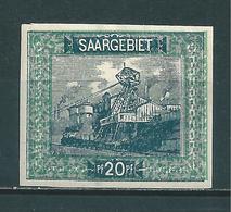 Saar MiNr. 55 U Geprüft Ney BPP (sab40) - 1920-35 Saargebiet – Abstimmungsgebiet