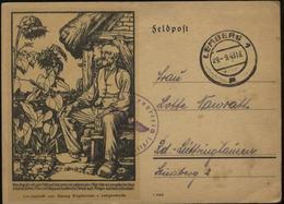 WW II Slyterman Feldpost Postkarte: Gebraucht Lemberg - Lüttringhausen 1943 , Bedarfserhaltung. - Deutschland