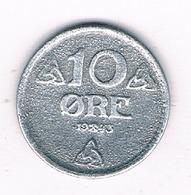 10 ORE  1943  ZWEDEN 0450/ - Norvège
