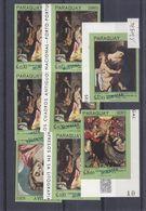 Paraguay - Yvert 1709 / 16 ** - NON Dentelés - SPECIMEN - Muestra - Peinture - Carravagio - Greco - Barroco - Paraguay