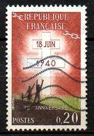 FRANCE. N°1264 De 1960 Oblitéré. Appel Du Général De Gaulle. - De Gaulle (General)