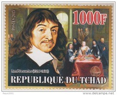 René Descartes, Mathematics, Modern Philosophy, Physicist, MNH Chad - Physics