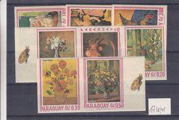 Paraguay - Yvert 1738 / 45 ** - NON Dentelés - SPECIMEN - Muestra - Van Gogh - Renoir - Cézanne - Toulouse Lautrec - Paraguay