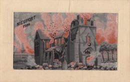 CPA - Nieuport 1914 - Carte Brodée - Nieuwpoort