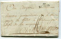 NIEVRE De NEVERS LAC Du 22/10/1797 Linéaire 24x9 Et Taxe De 10 Pour CHATEAU GONTIER - Marcophilie (Lettres)