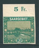 Saar MiNr. 86 U  (sab40) - 1920-35 Saargebiet – Abstimmungsgebiet