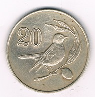 20 CENT 1985 CYPRUS /0457/ - Chypre