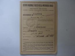 """Libretto """"ISTITUTO NAZIONALE FASCISTA DELLE PREVIDENZA SOCIALE - COSENZA 1935"""" - Documents Historiques"""