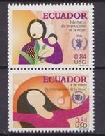 Ecuador - 2001 Yvert 1536/7 ** Mnh UNIFEM PMA Woman - Organizzazioni