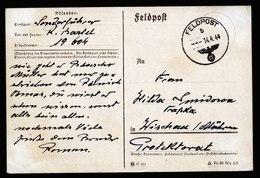 A5790) DR Feldpostkarte 14.04.44 V. FP-Nr. 19604 Sofia N. Wischau - Deutschland