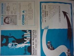 "Pieghevole Pubblicitario ""TEATRO VALLE TAVERNA DEL QUIRINALE Stagione 1933 - 1934"" - Publicités"