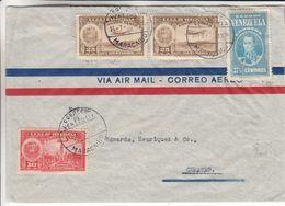 Venezuela - Lettre De 1938 - Oblit Maracaibo - Exp Vers Curaçao - Cachet De Willemstad - Ligne Hamburg Amerika - Venezuela