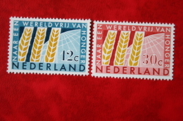 Anti Honger Jaar NVPH 784-785 (Mi 791-792); 1963 ONGEBRUIKT / MH NEDERLAND / NIEDERLANDE - 1949-1980 (Juliana)
