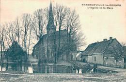 28 ERMENONVILLE LA GRANDE L'Eglise Et La Mare - Other Municipalities