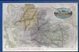 Carte Géographique    Les Départements: LOIRE Et CHER - Cartes Géographiques
