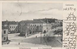 Romania  CZERNOWITZ  Helliggenkreuzplatz  Tram  Ro208 - Roumanie