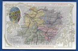 Carte Géographique    Les Départements: LOT Et GARONNE - Maps