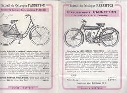 Pannetton à Morteau - Vélomoteur Et Bicyclette - 8 Modeles Extraits Du Catalogue - Publicité