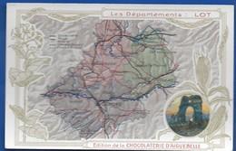Carte Géographique    Les Départements: LOT - Maps