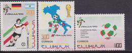 Ecuador 1203/05 1990 Calcio Mundial Fútbol Football Italia 90 MNH - Coppa Del Mondo