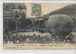 55 SAINT-MIHIEL . Fête Patronale , Gonflement D' Un Ballon , Rare , édit : Ch Foliguet , écrite En 1907 , état Correct - Saint Mihiel