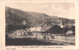 FR66 ARLES SUR TECH - Galangau 6 - La Gare - Dépôt Des Automotrices - Attelage - Animée - Belle - Francia