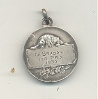 LUTTE - Médaille Ch. Brabant Ier Prix  1930 (b244) - Lutte (Wrestling)