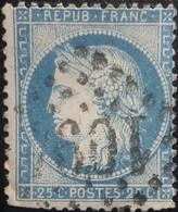 FRANCE Y&T N°60A Cérès 25c Bleu. Oblitéré Losange GC. N°1094 - 1871-1875 Ceres