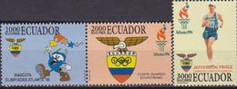 Ecuador 1354/56 1996 Juegos Olímpicos Olympic Games Atlanta Jefferson Perez MNH - Estate 1996: Atlanta