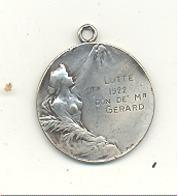 LUTTE - Médaille - Don De Mr. GERARD   1922 (b244) - Lutte (Wrestling)