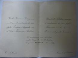 Partecipazione Nozze  Roma Anni '50 - Annunci Di Nozze