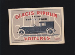 Automobile - Glacis Ripolin Spécial Voitures - Mode D'emploi Et Nuancier - Publicité