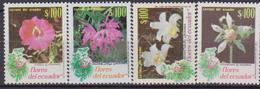 Ecuador 1990 Autoctona Fiori Flora Flowers 2181/84 MNH - Orchidee