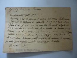 """Cartoncino Pubblicitario """"GIULIO VANNINI CASA EDITRICE - TIPOGRAFICA  BRESCIA""""  Retro Manoscritto. Inizi '900 - Pubblicitari"""