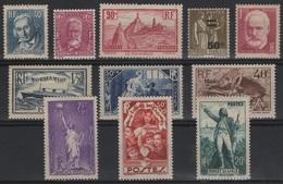 FR 1019 - FRANCE Petit Lot De 11 Valeurs Neufs* Entre 1933 Et 1936 - France