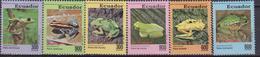 Ecuador 1993 Yvert 1260/5 ** Mnh Fauna Rane  Anfibios Frog Amphibians - Rane