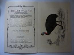 """Pieghevole Farmaceutico """"MAESTRETTI S.p.A. RUBIAZOL SOLUZIONE"""" 1950 - Pubblicitari"""