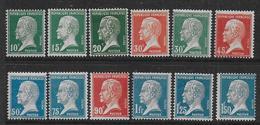 France - Pasteur Série 170 à 181  *   - Cote : 95 € - France