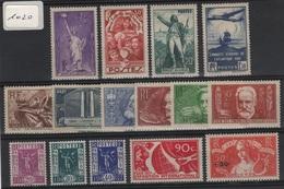 FR 1020 - FRANCE Petit Lot De 15 Valeurs Neufs*/** De 1936 - France