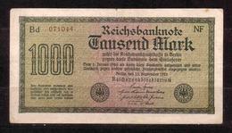 185c * REICHSBANKNOTE 071044 VOM 15.9.1922 * 1000 MARK * GEBRAUCHT ** !! - [ 3] 1918-1933 : Weimar Republic
